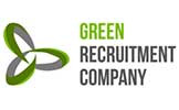 The Green Recruitment company logo written in green and grey