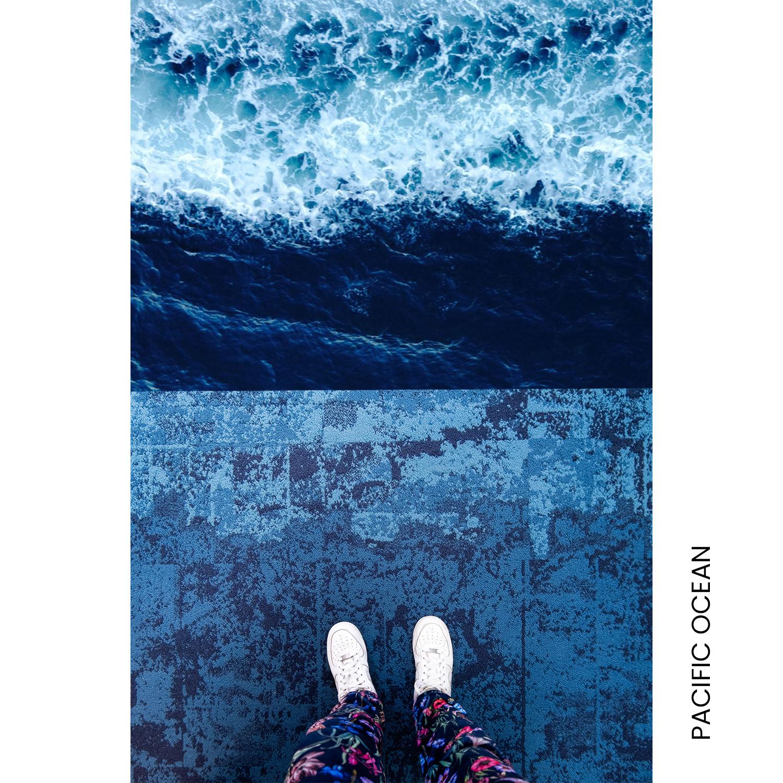 Carpet flooring design inspired by the ocean
