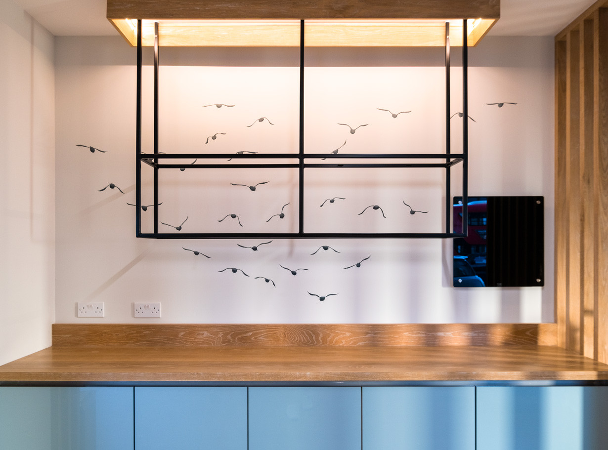This bespoke drink rack was designed with 4 key elements in mind, nature, plants, lights and sustainability
