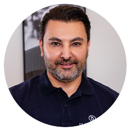 A profile photo of our client Azad Eyrumlu from Banning Dental Group