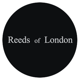The Reeds of London company logo written in black text